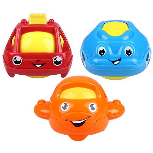 Peradix Baby Wasserspielzeug Badspielzeug Schwimmende Bad Autos Rassel Ball Kunststoff 3 PCs