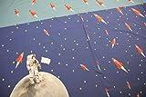 Stoff/beste Jersey-Qualität/Jersey Panel Affe, Astronaut, Weltraum jeansblau