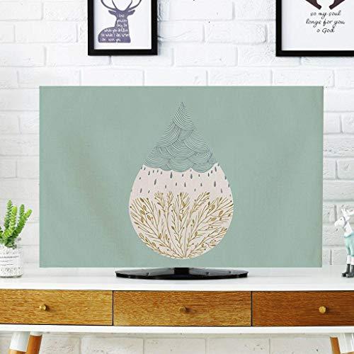 Monitor Hülle, einfache Moderne TV-Abdeckung Wandbehang LCD-TV-Schutzhülle Gebogene Display-Staubschutzhülle-27Zoll-F