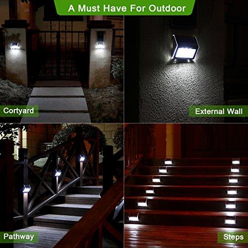 lampe solaire jardin extrieur 3 led easternstar clairage extrieur solaire impermable en acier inoxydable pour clture jardin escalier chemin
