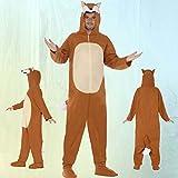 Fuchs Kostüm Jumpsuit Fuchskostüm L 52/54 Tierkostüm Overall Herren Plüschkostüm Fox Ganzkörperkostüm Erwachsene Ganzkörperanzug Tier