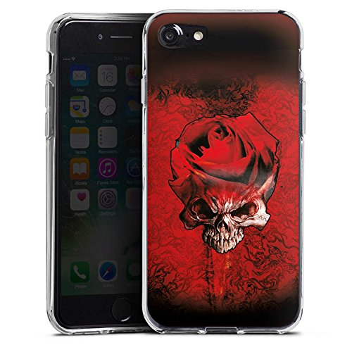 Apple iPhone X Silikon Hülle Case Schutzhülle Rose Blut Dornen Silikon Case transparent
