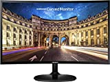 (Renewed) Samsung 23.5 inch (59.8 cm) Curved LED Monitor - Full HD, VA Panel with VGA, HDMI, Audio Ports - LC24F390FHWXXL (Black)