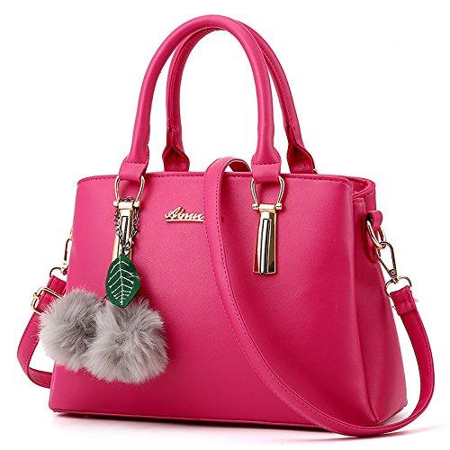 LiZhen Ms. pacchetti coreano in autunno e inverno nuova donna pacchetto è semplice ed elegante borsa tracolla di tendenza un cross-killer pacchetto la linea nera ricamate foulard di seta Rosso