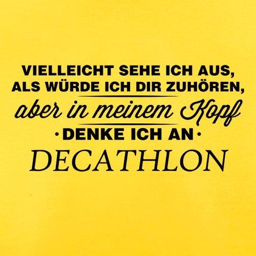 Vielleicht sehe ich aus als würde ich dir zuhören aber in meinem Kopf denke ich an Decathlon - Herren T-Shirt - 13 Farben Gelb