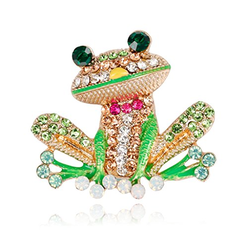 Versuchen Männer Kostüm Frauen - Amarzk Frosch Brosche Pins Für Frauen Männer Schmuck Kostüm Geschenke Emaille Strass Bunte
