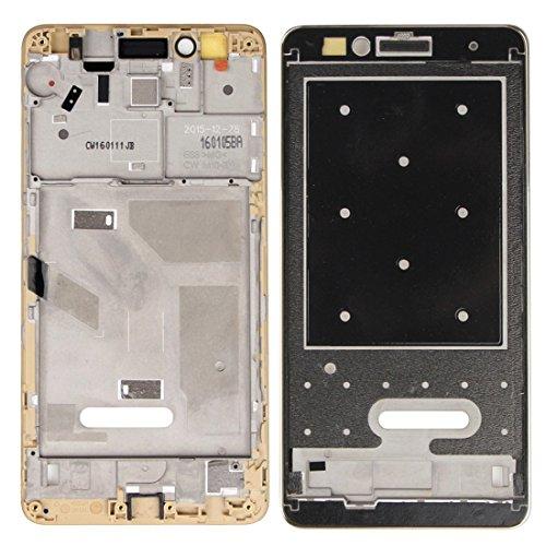Piezas de repuesto de teléfonos móviles, iPartsBuy para el capítulo de Huawei Honor 5X LCD frontal de la carcasa del bisel de la placa ( Color : Oro )