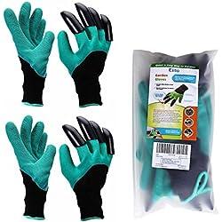 Garten Handschuhe (2 Paar), Eiito pflanz-und arbeitshandschuhe garten gartenarbeit handschuhe mit graben klauen, garten gloves gartenhandschuhe