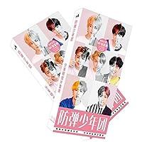 بطاقات بريدية كيه بوب مطبوع عليها صور لفريق بي تي اس بانجتان والبوم لاف يور سيلف مكونة من 30 قطعة/مجموعة هدية للارمي (180 قطعة)