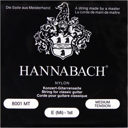 Hannabach 800MT Konzertgitarre Medium Tension Nylon Klassikgitarren-Saiten-Satz