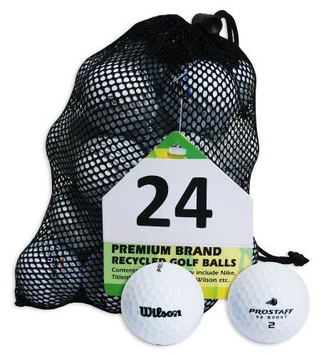 Second Chance Wilson Pro Staff Set 24 Palline da Golf, Categoria A, Bianco, 24