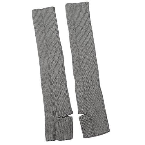 Armstulpen Für Frauen Sportliche (CanVivi Damen Beinstulpen Tanzen Stulpen Ballettstulpen mit Fersenloch ,Grau)