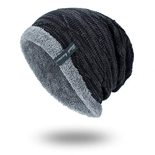 iHENGH Bequem Lässig Mode Unisex Strickmütze Hedging Head Hat Beanie Cap Warme Outdoor Fashion Hut BK