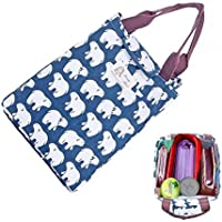 Preisvergleich für Lunchbox, hommekit wiederverwendbar Baumwolle Lunch Kühltasche Tasche Isolierte Lunch weichem Bento