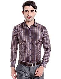 Donear NXG Mens Formal Shirt_SHIRT-1365-RUST-NAVY