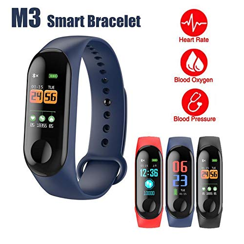 Smart Bracelet Fitness Activity Tracker Blood Pressure Heart Rate Monitor Sports Running Sleep Tracking Waterproof Pedometer With Bluetooth 4.0, For Women Men Kid Android Phone iPhone Samsung