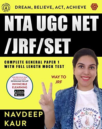 NTA UGC NET/JRF/SET Complete General Paper 1 with full length Mock Test