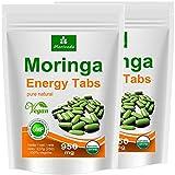 Moringa 500 Energy Tabs 950mg, 100% Natur, Vegan, hochdosiert von MoriVeda, Kapseln Tabletten Presslinge (2x250)