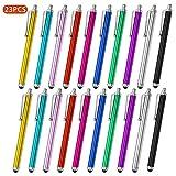 MPIO Universal Stylus Stift Eingabestift Touchstift 23 Stücke Kapazitive Touch Pen mit Gummispitze für Smartphones und Tablets, iPad, iPhone, Samsung, Surface, Kindle, Lenovo und mehr - 10 Farben