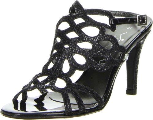 Vista Damen Sandaletten Glitzeroptik schwarz Schwarz