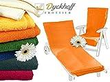 Schonbezug mit Kapuze aus dem Hause Dyckhoff - erhältlich in 7 sommerlichen Farben für Gartenstuhl oder Gartenliege, Gartenstuhl, orange