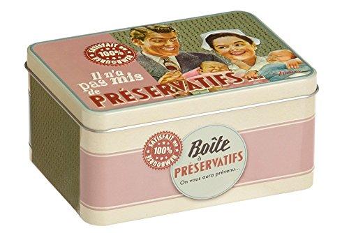 Natives 510160felices Papa caja de preservativo Metal 13x 8,5x 6