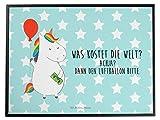 Mr. & Mrs. Panda Schreibtischunterlage Einhorn Luftballon - 100% handmade in Norddeutschland - Einhörner, Schreibtisch, Schreibtischunterlage, Freude, Einhorn, Unterlage, Unicorn, Freundin , Lebenslust, Luftballon, Geschenk, Geld