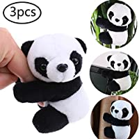 CosCosX 3 Pcs Finger Panda, Cute Panda Plush Toy Panda Clip Relaxation Toys Finger Toy Kids Toy Home Decoration