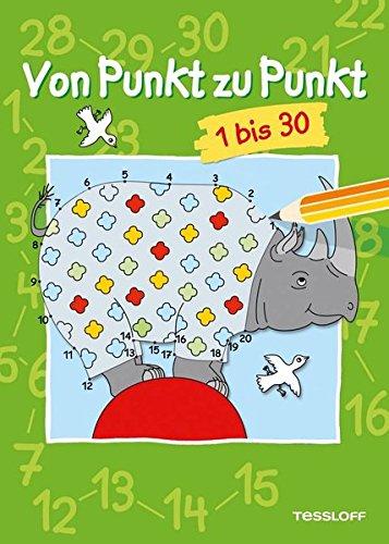 Von Punkt zu Punkt 1 bis 30: Malen nach Zahlen ab 6 Jahren (Lernen, Zu Zeichnen Für Kinder)