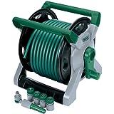 25m Wind Up Tuyau d'arrosage sur Roller Kit–Cadre en Plastique avec tambour et le vent de manche. Par Finition Design avec 1.27cm Raccord de tuyaux. Livré avec jusqu'à 25m Tuyau de 12mm–3x 1.27cm Tuyau Raccords–1.27cm Raccord de tuyaux avec fonction Stop Eau–1.91cm BSP connecteur avec 1.27cm BSP réducteur et robinet buse de pulvérisation réglable. Livré dans carton.