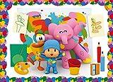 Pocoyo 65943 Puzzle The Little Painter, Multi Colour, One Size