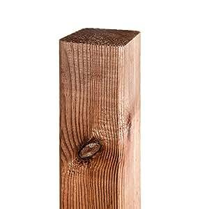 PFOSTEN, Zaunpfosten, Holzpfosten für Maschendrahtzäune, Kunststoffzäune, Gartenzaun, Kiefer Vierkantpfosten, Kreuzholz, Kantholz, 7 x 7 x 150cm