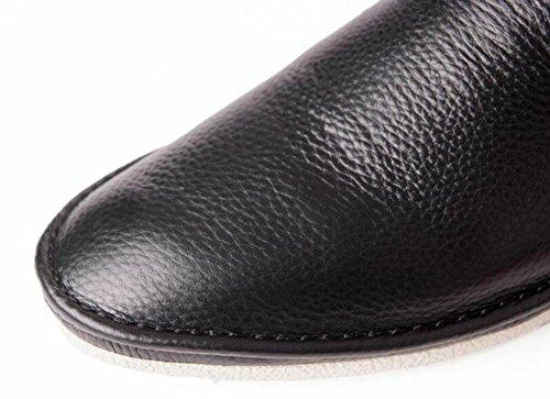 SHIXR Herren Lace-Up Flats Oxford Sommer Neue Hosen Schuhe First Layer Weiche Leder Leder Bequeme Schuhe Lazy Schuhe Ein Pedal Schuhe Derby Schuhe Black