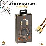 YZSY® Deluxe Lightning auf USB Sync-/Ladekabel   Hochwertiges Datenkabel iPhone-Kabel Schnelladekabel Lightningkabel für Apple-Geräte in einzigartigem Design   Länge: 1,00 m (Brown Leather)