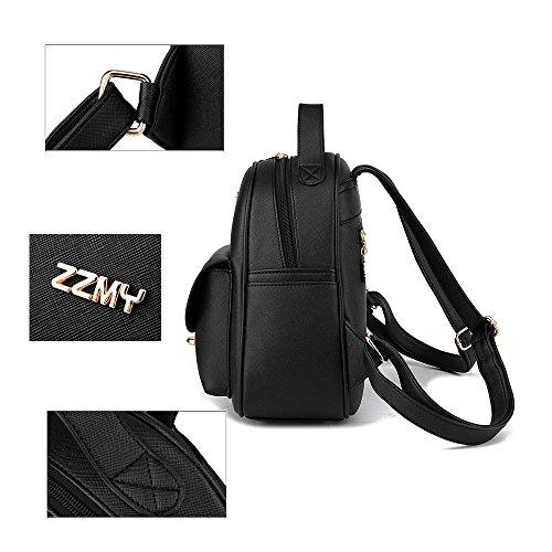 Borsa a Zaino Mini Backpack Zaino per Ragazze Zaino Donne Pelle Zaino Impermeabile Borse Rosso Zaino Bianco Zaino
