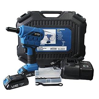 Hyundai, HY-HYBR2201, Remachadora, 18 V, Negro/Azul, 1,6