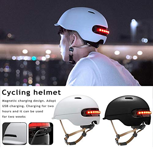 Urben Life Casco Bicicleta con luz LED para XIAOMI M365, Patín Eléctrico Scooter Coche Eléctrico Cascos Inteligentes para Montar Casco Clásico para Bicicleta/Skate/Multideporte