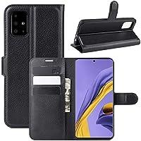 جراب Samsung Galaxy A51 من جلد البولي يوريثان مع فتحات لبطاقة الائتمان ووظيفة المسند. U416805