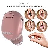 NENRENT S570 Bluetooth Kopfhörer, kleinste Mini Invisible V4.1 Wireless Bluetooth Headset Ohrhörer mit Mikrofon Freisprecheinrichtung Anrufe für iPhone 8 7 6 Plus iPad Samsung HTC LG 1 Stück Rose gold