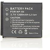 Masione Pentax D-LI68 Fuji NP-50 Replacement Battery Pack for Pentax Optio A36, Pentax Optio S10, Pentax Optio S12, Pentax Q Series Kodak Klic-7004 Digital Camera