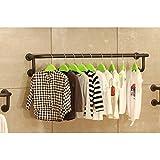 JHYMJ Retro Bekleidungsgeschäft-Display-Ständer Wand-Kleiderbügel Kleiderbügel Regal (Größe : 120cm)