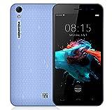 Homtom HT16 - Android 6.0 3G 5.0 pollici Smartphone MTK6580 Quad Core a 1,3 GHz 1 GB di RAM 8GB dual SIM 3000mA batteria - blu