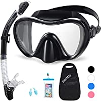 Supertrip Snorkel Set Scuba Diving Mask Snorkeling Goggles Dry Top Snorkel With Anti-Fog Film Anti-Leak Design Panoramic Wide View For Adults And Youth