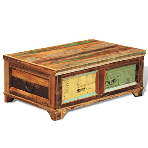 Best Saving for Reclaimed Wood Storage Box Coffee Table Vintage Antique-style on Amazon