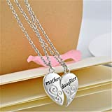 Kitchen & Housewares : LnLyin Mother and Daughter Love Heart Words Pendant Necklace Jewelry for Mother's Day Gift 1Pair