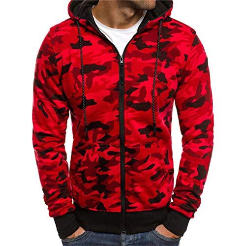 Hoodies Sweatshirt Männer Hoody Military Slim Sportswear Camouflage Hoodies Männer Red M ()