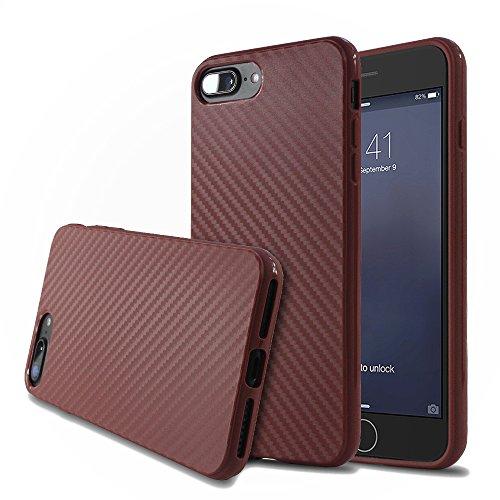 iPhone 7 Hülle,EinsAcc Silikon Weich Hülle Case Backcover für iPhone 7/7Plus (Für iPhone 7 5.5 Zoll, kaffee) kaffee