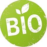 Finest-Folia 500x Produkt Aufkleber Bio, Vegan, Glutenfrei, Laktosefrei, Vegetarisch, (Bio)
