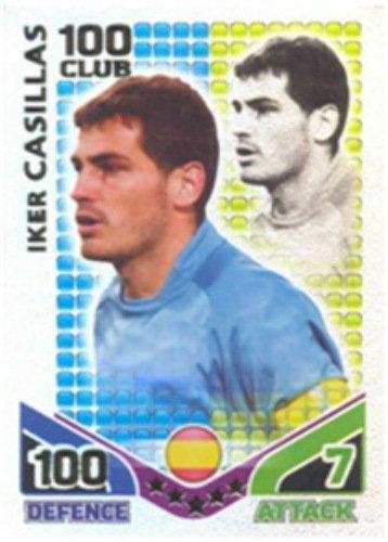 MATCH ATTAX WORLD CUP 2010 IKER CASILLAS 100 VEREIN KARTE SPANIEN -