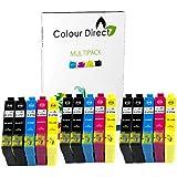 15 Colour Direct Compatible Ink Cartridges Replacement For Epson WorkForce WF-3620DWF WF-3640DTWF WF-7110DTW WF-7610DWF WF-7620TWF WF-7620DTWF